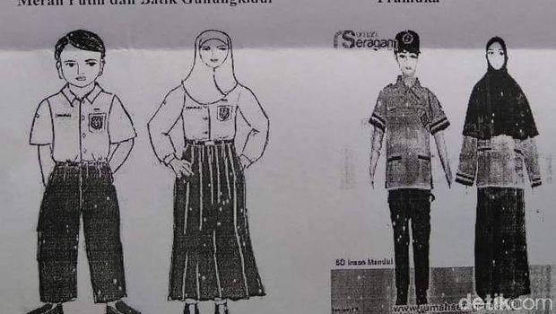 Surat edaran dari SDN Karangtengah III, Gunungkidul.