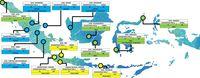 Peta kualitas udara di Indonesia pagi ini, 3 di antaranya di Jakarta.
