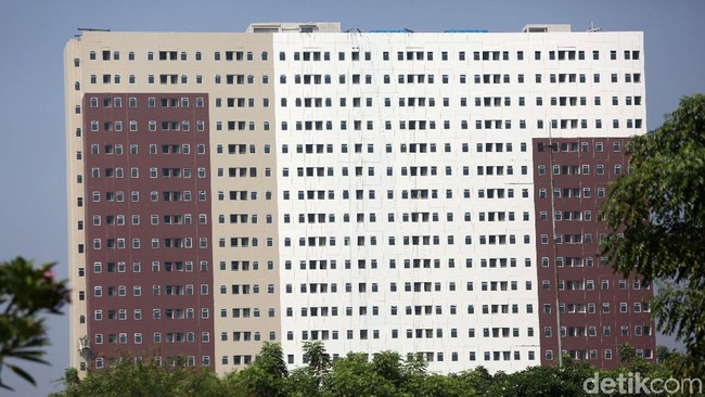 Rumah DP Rp 0 yang digagas Anies Baswedan dibangun vertikal/Foto: Agung Pambudhy