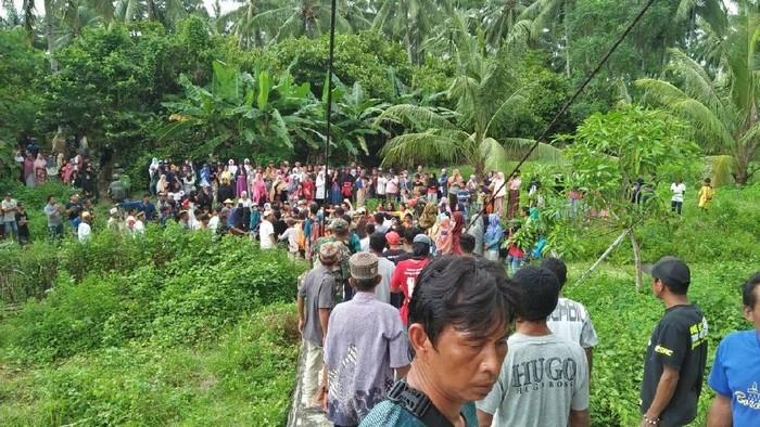 Lokasi penemuan mayat ayah-anak digorok (Foto: dok. Istimewa)