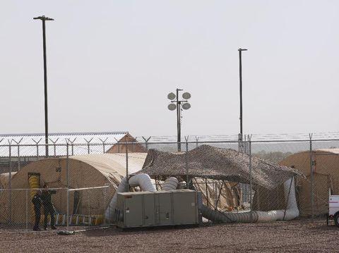 Situasi di fasilitas perbatasan AS di Clint, Texas