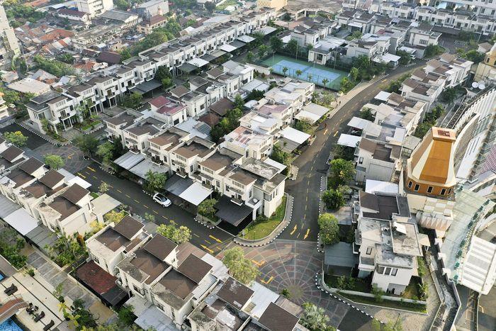 Begini penampakan Kompleks Perumahan Cosmo Park yang berada di atas Thamrin City, Jakarta Pusat, Rabu (26/9/2019).