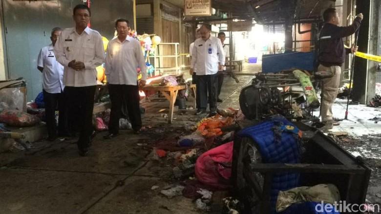 Pasar Manis Terbakar, Bupati Ciamis Soroti Jumlah Mobil Pemadam