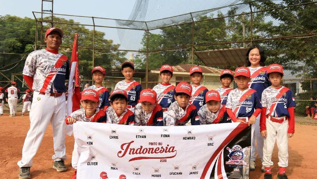 Para Pebisbol Cilik Indonesia Ini Ikut Turnamen di Amerika