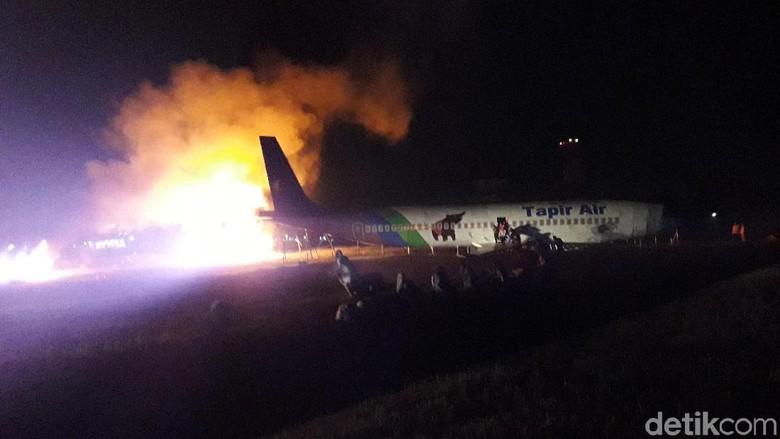 Melihat Latihan Evakuasi Pesawat Terbakar di Bandara Adisutjipto