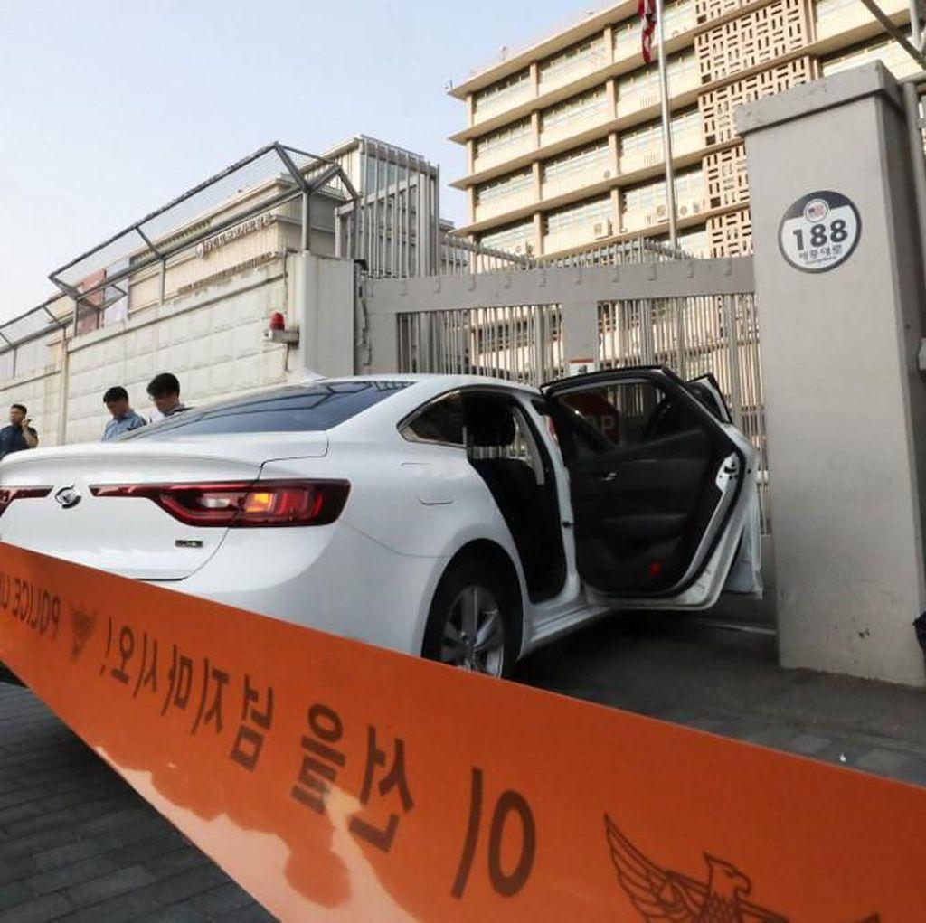 Mobilnya Tabrak Gerbang Kedubes AS di Seoul, Seorang Pria Ditangkap