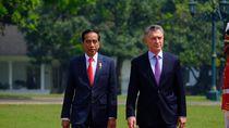 Jokowi Terima Kunjungan Presiden Argentina di Istana Bogor