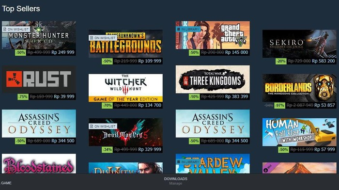 Diskon Game Steam