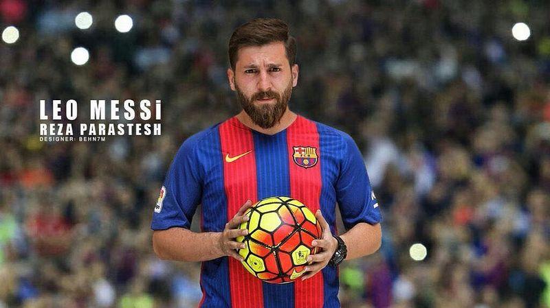 Inilah Reza Paratesh, pria Iran yang dijuluki Lionel Messi KW Super karena mirip banget. Belakangan dia kena masalah karena dituduh meniduri 23 wanita (rezaparastesh/Instagram)