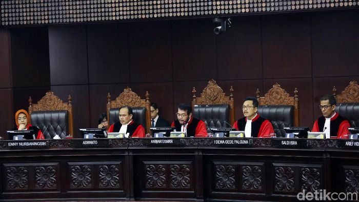 Sidang putusan sengketa pilpres di MK/Foto: Agung Pambudhy