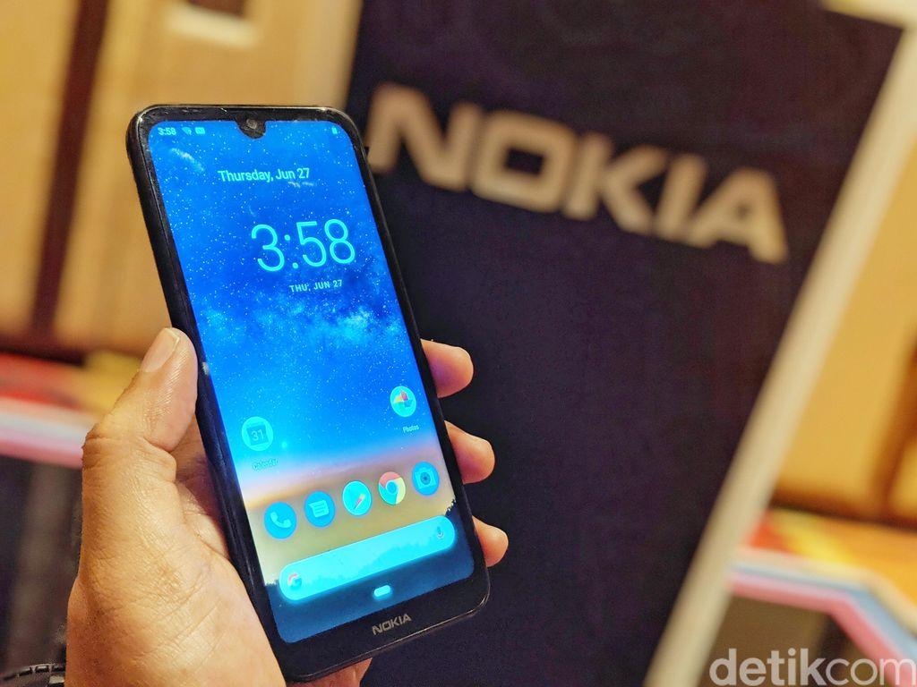 Nokia 2.2 menawarkan bentang layar 5,71 inch dengan aspect ratio 19:9. (Foto: detikINET/Adi Fida Rahman)