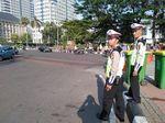 Jelang Putusan MK, Jalan Medan Merdeka Barat Ditutup