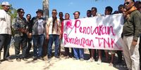 Warga Desa Komodo di Pulau Komodo menolak penutupan Taman Nasional Komodo (dok Istimewa)