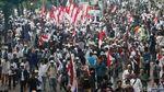 Massa Aksi Kawal MK Mulai Tinggalkan Patung Kuda