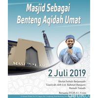 Penjelasan Pengurus Masjid Al Amin Undang Rahmat Baequni Berdakwah