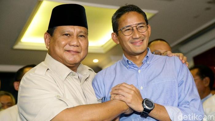Prabowo Subianto dan Sandiaga Uno (Grandyos Zafna/detikcom)