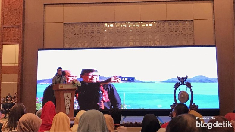 Menteri Dalam Negeri (Mendagri) Tjahjo Kumolo dalam Trisakti Tourism Award (Rolando Fransiscus Sihombing/detikcom)