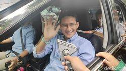 Akan Nobar Sidang Putusan MK, Prabowo-Sandi Tiba di Kertanegara