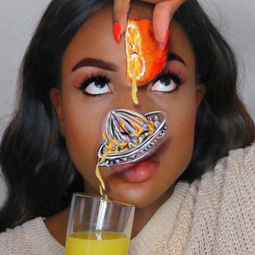 Makeup Artist Bikin Ilusi Makeup Keren, Gambar Poster Toy Story di Wajah