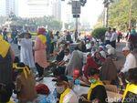 Kapolres dan Dandim Jakpus Cek Massa Aksi di Patung Kuda
