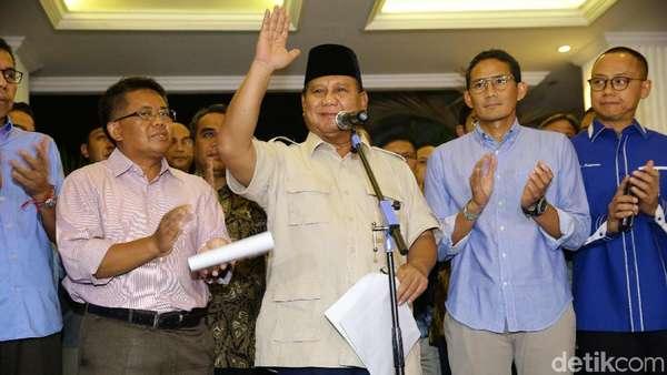 Tak Ada Upaya Hukum Lagi untuk Prabowo-Sandiaga