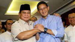 Prabowo-Sandi Bakal Satu Rombongan Menuju Pelantikan Jokowi
