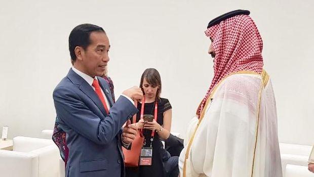 Tiba di KTT G20, Jokowi Ngobrol dengan Trump hingga Putra Mahkota Arab
