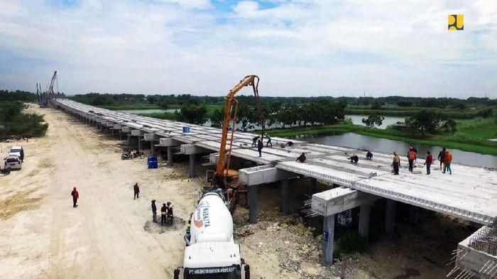 Progres Tol Krian-Manyar. Foto: Dok. Kementerian PUPR