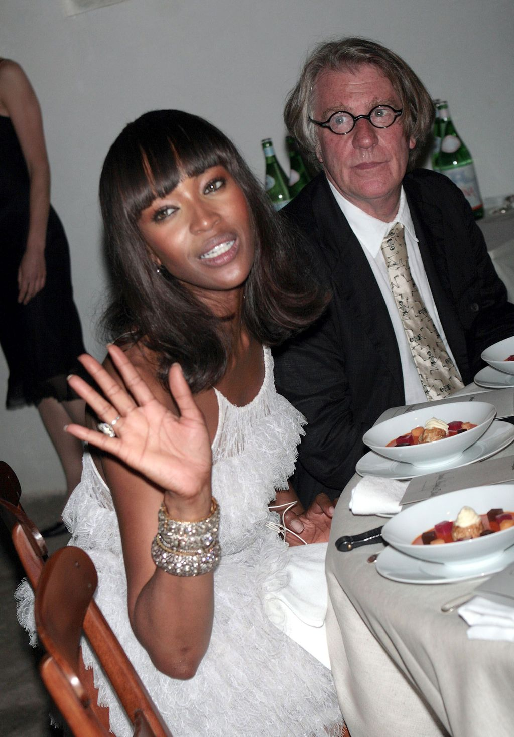 VENICE, ITALY - JUNE 8:  Model Naomi Campbell (L) attends Pinault's private dinner at the Fondazione Cini during the 52nd annual Biennale June 8, 2007 in Venice, Italy.  (Photo by Elisabetta Villa/Getty Images)