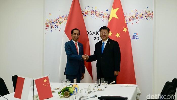 Jokowi dan Xi Jinping di Osaka