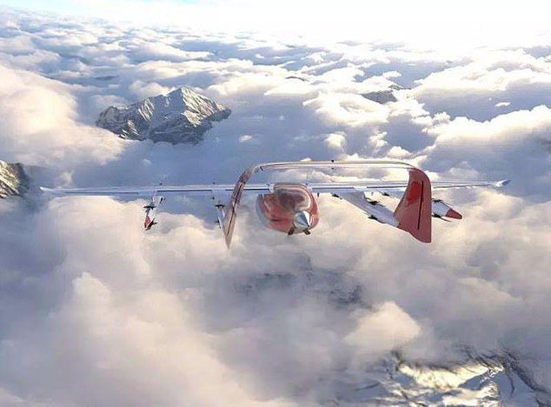 Inilah Zuri, pesawat tanpa pilot yang tengah dikembangkan oleh investor Kiwi.com, sebuah perusahaan travel agen online. Zuri saat ini sedang dibuat prototipenya. (dok. Zuri)