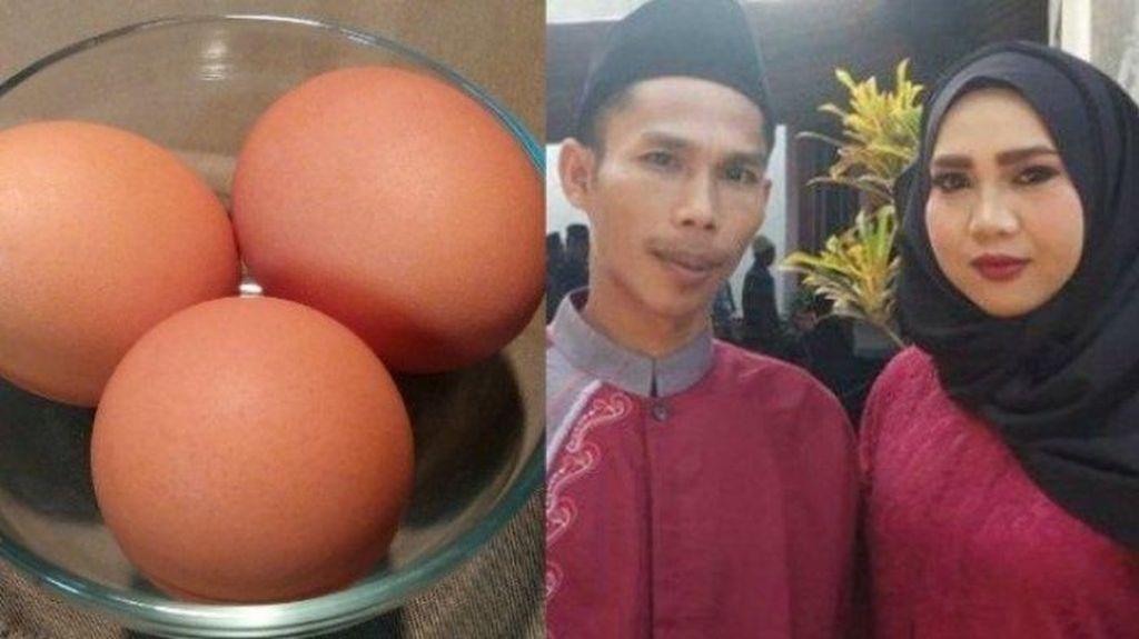 Super Sederhana! Pasangan Ini Menikah dengan Mahar 3 Butir Telur Ayam
