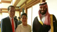 Santap Makan Malam G20 Osaka, Jokowi-Iriana Foto Bareng Putra Mahkota Arab