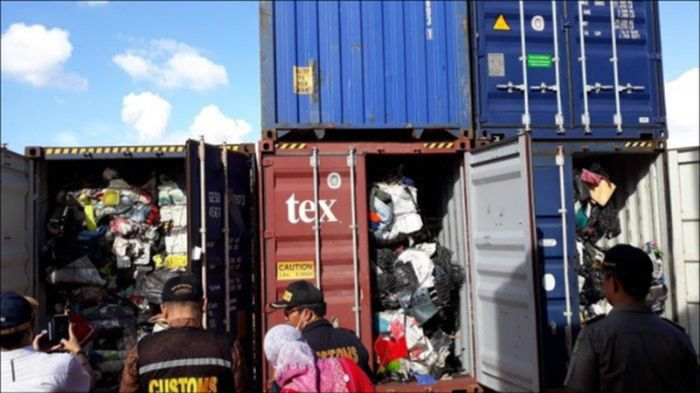 Impor sampah plastik/Foto: detik
