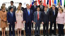 Potret Jokowi Serius dengan Trump, Ngobrol Seru Bareng Ivanka