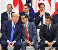 Aksi Jokowi di KTT G20: Serius dengan Trump, Ngobrol Seru Bareng Macron-Ivanka