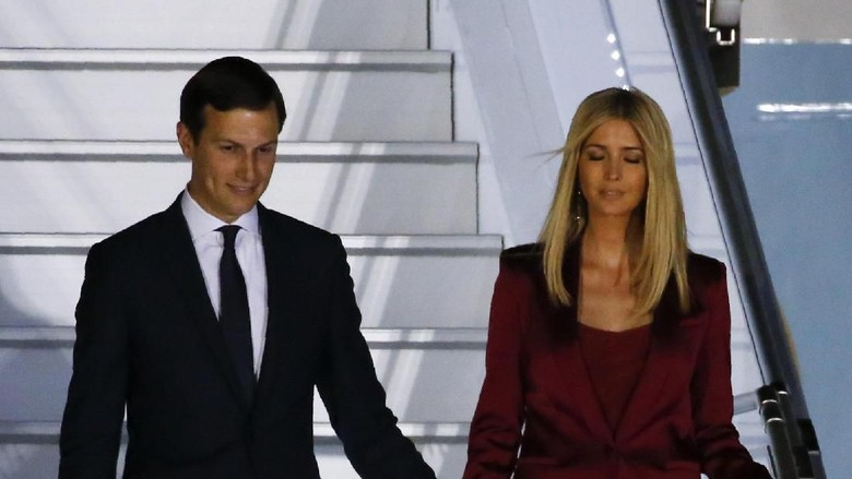 Ivanka Trump and her husband Jared Kushner, senior advisor of President Donald Trump, arrive aboard Air Force One at Warsaw military airport in Warsaw, Poland July 5, 2017.
