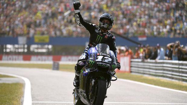 Posisi Valentino Rossi di klasemen sementara MotoGP 2019 kini disalip Maverick Vinales.