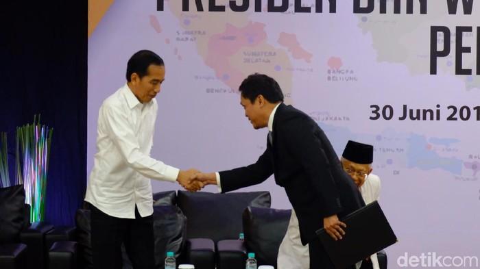 Penetapan presiden-wapres terpilih 2019 di KPU. (Andhika Prasetia/detikcom)