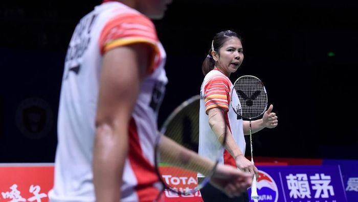greysia Polii/Apriyani Rahayu diminta membuktikan kulitas mereka di Indonesia Open 2019. (Wang Zhao / AFP)