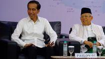 Tawa Jokowi dan Tim Prabowo-Sandi di Penetapan Presiden Terpilih