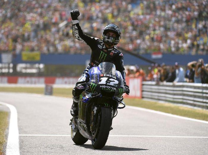 Maverick Vinales untuk sementara menjadi pebalap terbaik Yamaha. (Foto: Piroschka Van De Wouw/Reuters)