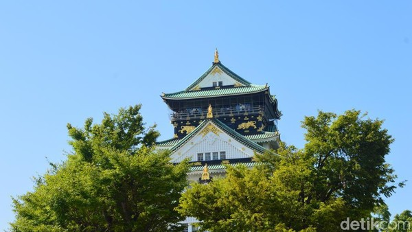 Bangunan ini jadi peninggalan sejarah masa lalu masyarakat Jepang yang dibangun selama 15 tahun mulai 1583 hingga 1598. (Dana Aditiasari/detikcom)