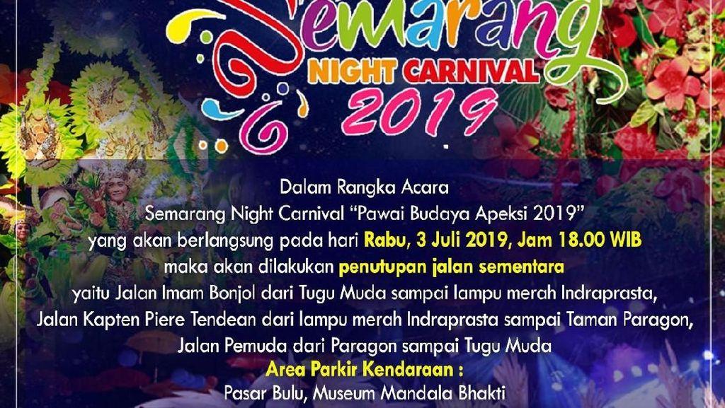 Ada Gelaran ISNC 2019, Beberapa Jalan di Semarang Akan Ditutup