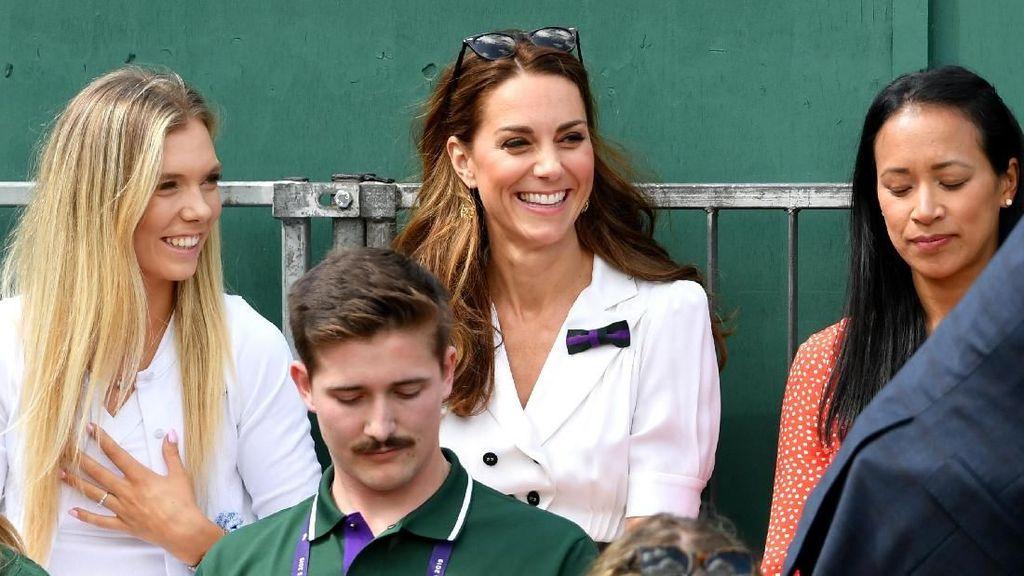 Kate Middleton Eksis di Wimbledon 2019, Cantik Bergaun Putih