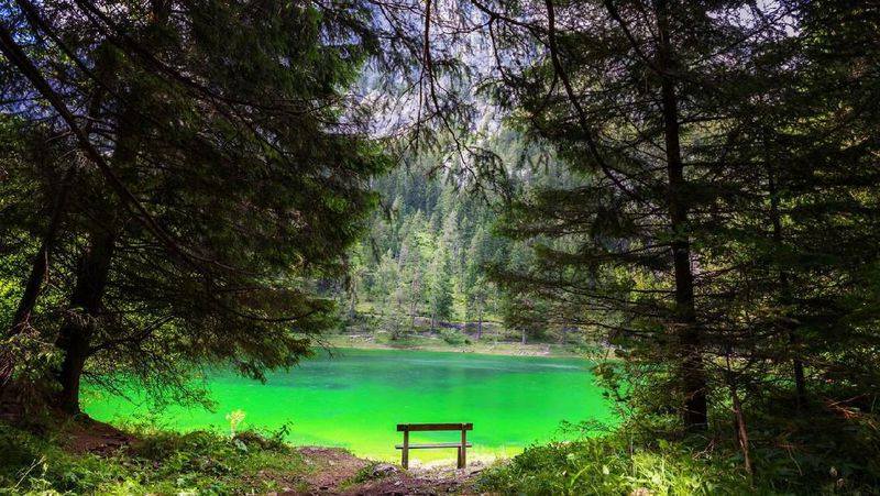 Namanya Gruner See, sebuah danau yang juga dikenal dengan nama Green Lake. (iStock)