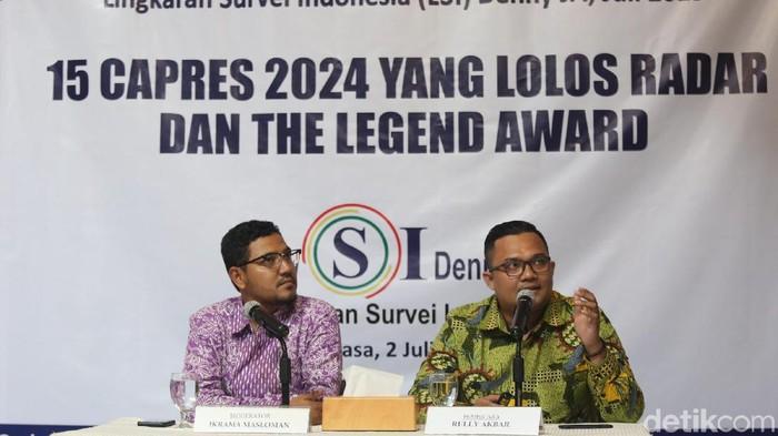 Lingkaran Survei Indonesia (LSI) Denny JA memprediksi 14 nama bakal calon presiden 2024. Siapa saja mereka?