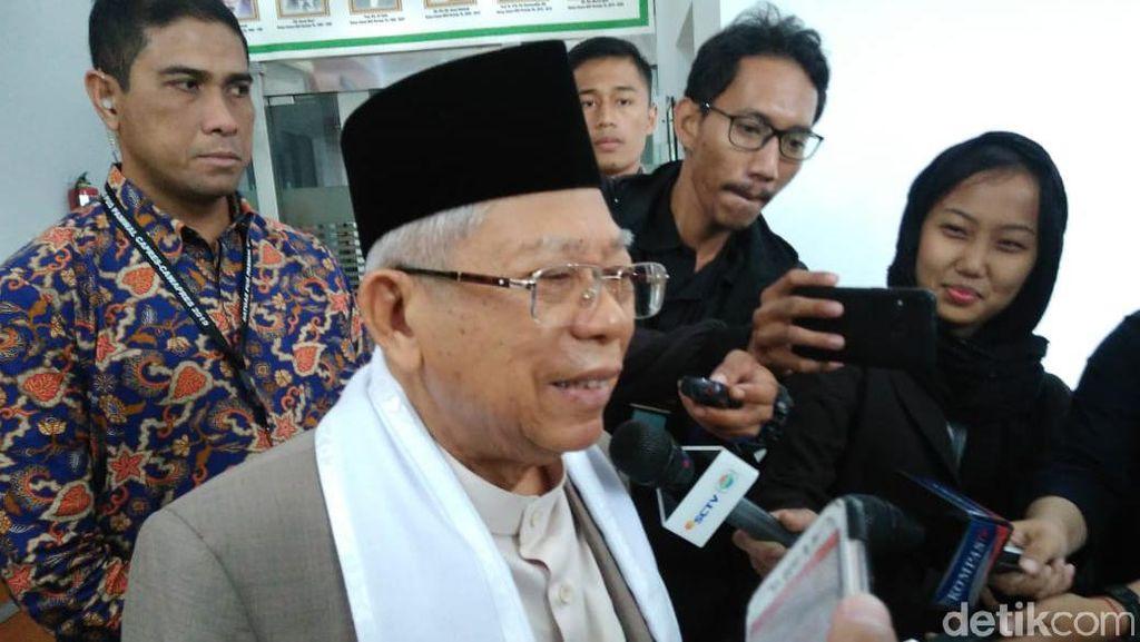 Kata Maruf Amin soal Menteri Ekonomi hingga Calon dari Milenial