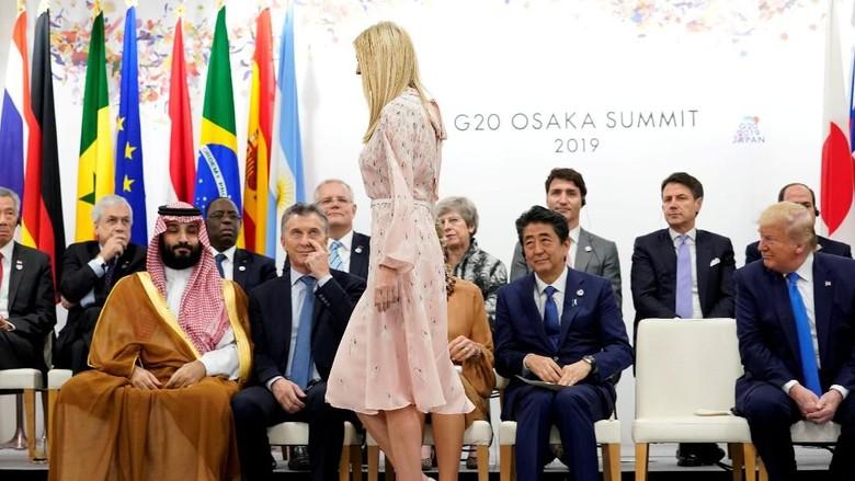 Tagar #UnwantedIvanka Jadi Sindiran Momen Kikuk Ivanka Trump di KTT G20