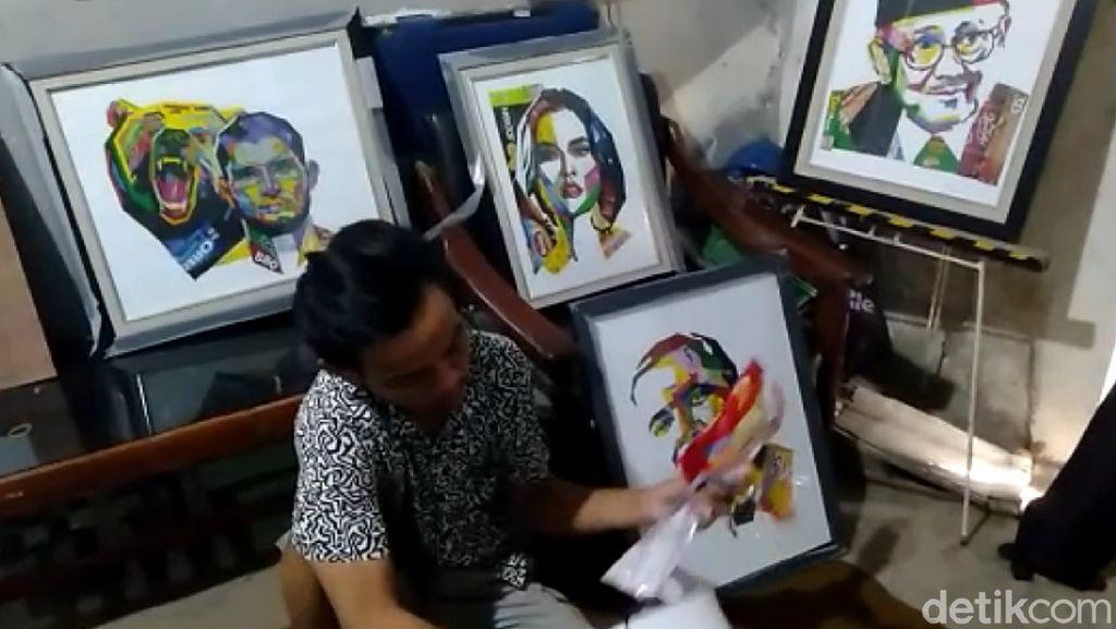 Di Tangan Pemuda Asal Tegal Ini, Sampah Plastik Jadi Karya Seni